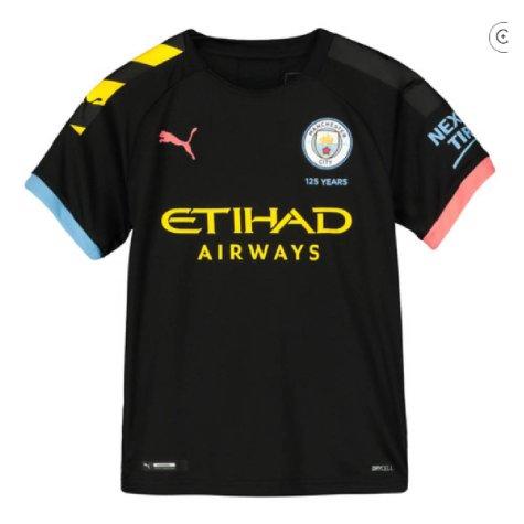 2019-2020 Manchester City Puma Away Football Shirt (Kids) (MENDY 22)