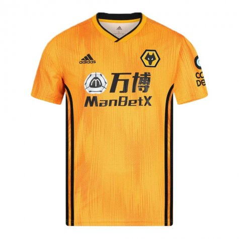 2019-2020 Wolves Home Football Shirt (Podence 10)