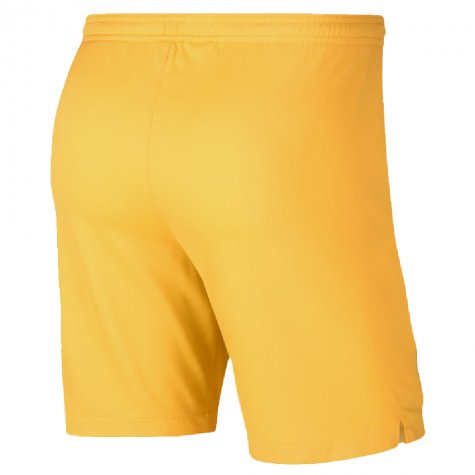 2019-2020 Barcelona Away Nike Football Shorts Yellow (Kids)