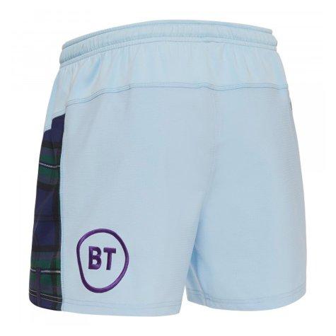 2019-2020 Scotland Macron Alternate Rugby Shorts (Sky)