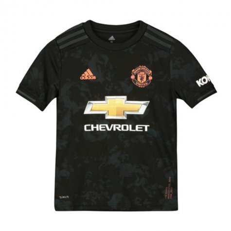 2019-2020 Man Utd Adidas Third Football Shirt (Kids) (BUTT 8)
