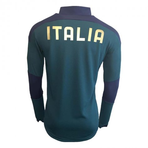 2019-2020 Italy Puma Quarter Zip Training Top (Pine) - Kids
