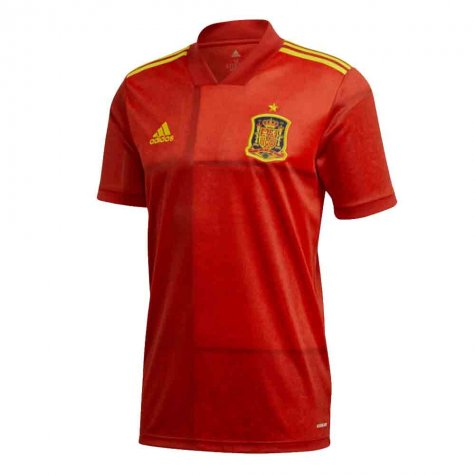 2020-2021 Spain Home Adidas Football Shirt (CARVAJAL 2)