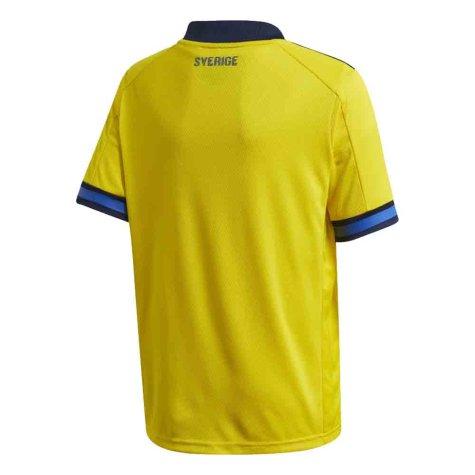 2020-2021 Sweden Home Adidas Football Shirt (Kids)