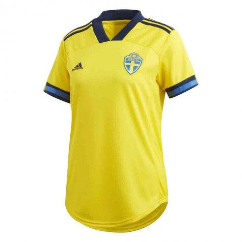2020-2021 Sweden Home Adidas Womens Shirt (Your Name)