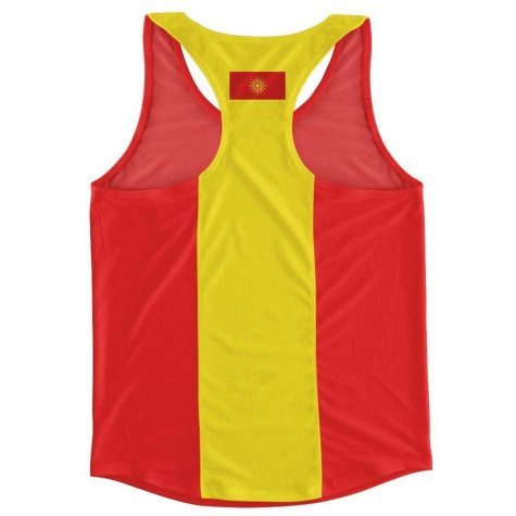 Macedonia Flag Running Vest