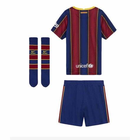 2020-2021 Barcelona Home Nike Little Boys Mini Kit