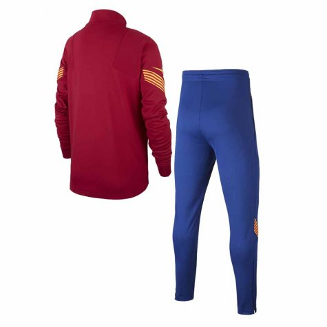 2020-2021 Barcelona Dri-Fit Strike Tracksuit (Noble Red) - Kid