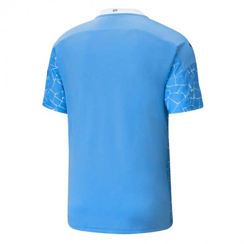 2020-2021 Manchester City Puma Home Football Shirt (MENDY 22)