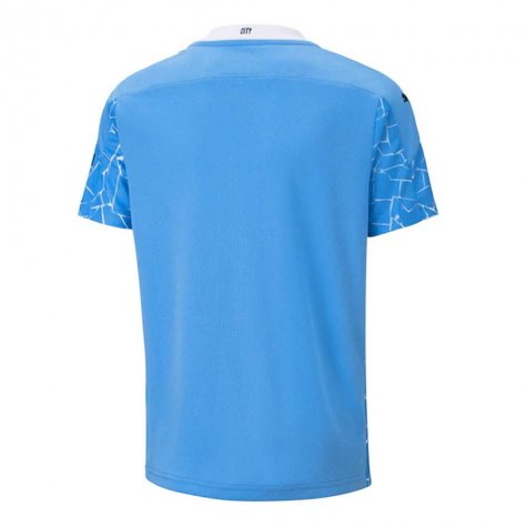 2020-2021 Manchester City Puma Home Football Shirt (Kids)
