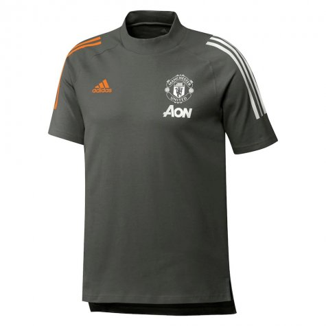 2020-2021 Man Utd Adidas Training Tee (Green) (FERGUSON 99)
