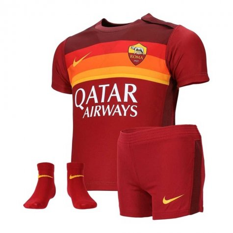 2020-2021 AS Roma Home Nike Infants Kit (KLUIVERT 99)