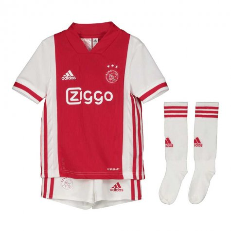 2020-2021 Ajax Adidas Home Mini Kit (PROMES 11)