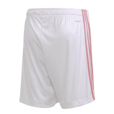 2020-2021 Real Madrid Adidas Home Shorts (White) - Kids
