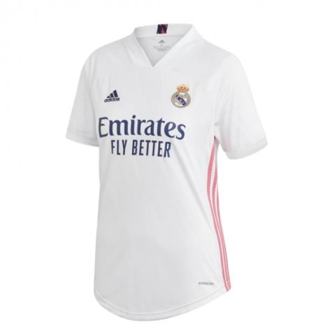 2020-2021 Real Madrid Adidas Womens Home Shirt (Your Name)