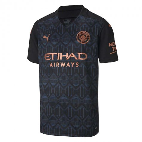 2020-2021 Manchester City Puma Away Football Shirt (Kids) (BERNARDO 20)