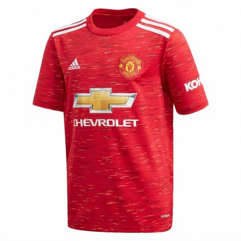 2020-2021 Man Utd Adidas Home Football Shirt (Kids) (EVRA 3)
