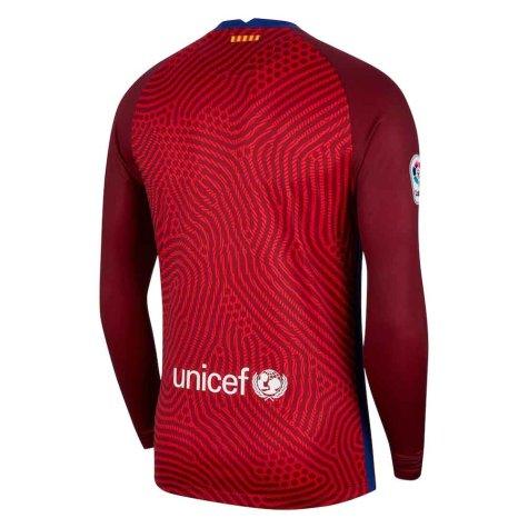 2020-2021 Barcelona Away Goalkeeper Shirt (Red)