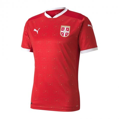 2020-2021 Serbia Home Puma Football Shirt (Kids) (SERGEJ 20)