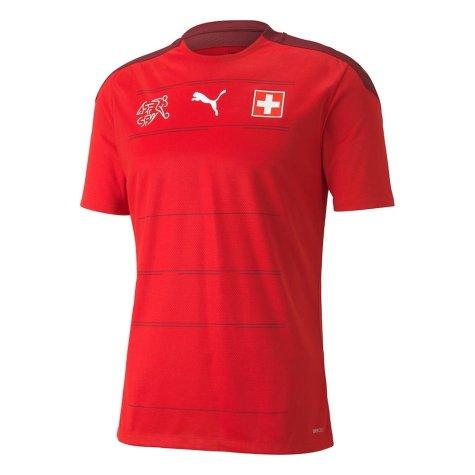 2020-2021 Switzerland Home Puma Football Shirt (AKANJI 5)