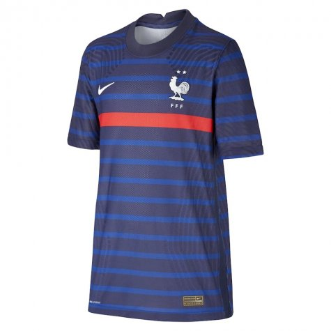 2020-2021 France Home Nike Vapor Shirt (Kids) (DESCHAMPS 4)