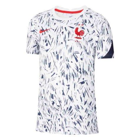 2020-2021 France Pre-Match Training Shirt (White) - Kids (VIEIRA 4)
