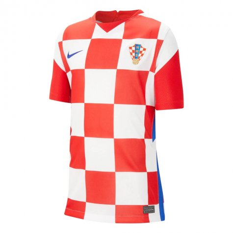 2020-2021 Croatia Home Nike Football Shirt (Kids) (MANDZUKIC 17)