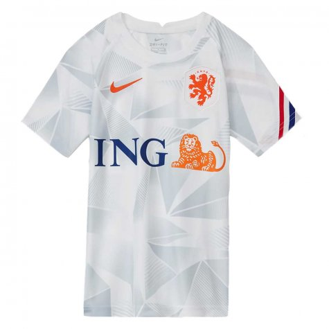 2020-2021 Holland Pre-Match Training Shirt (White) - Kids (Your Name)