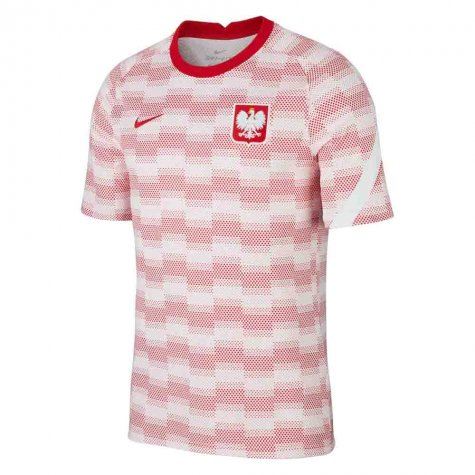 2020-2021 Poland Nike Pre-Match Training Shirt (White) (PISZCZEK 20)