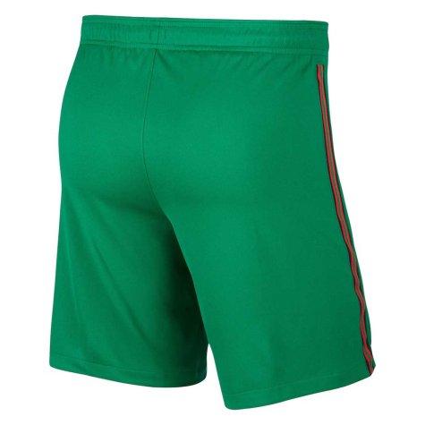 2020-2021 Portugal Nike Home Shorts (Green)