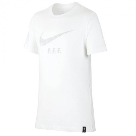 2020-2021 France Nike Evergreen Crest Tee (White) (DESAILLY 6)