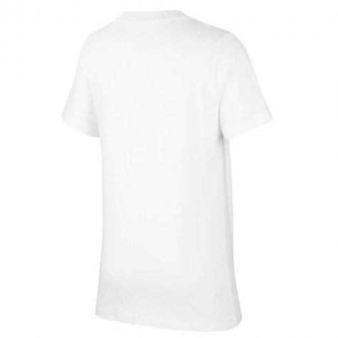 2020-2021 France Nike Evergreen Crest Tee (White) (DESCHAMPS 4)
