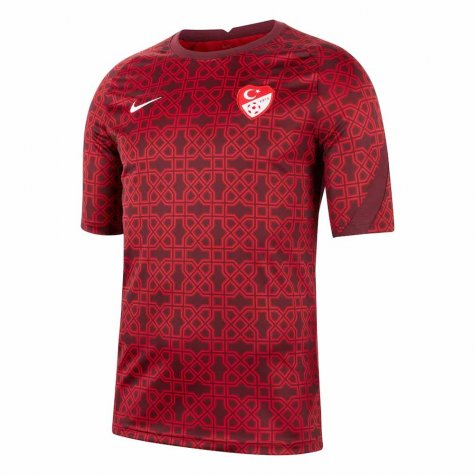 2020-2021 Turkey Nike Pre-Match Training Shirt (Red) (YAZICI 11)