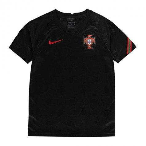 2020-2021 Portugal Pre-Match Training Shirt (Black) - Kids (J Moutinho 8)