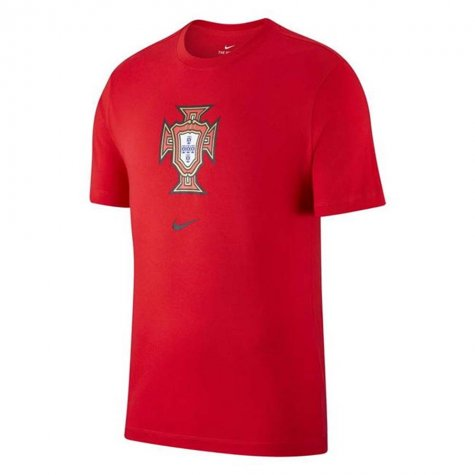 2020-2021 Portugal Nike Evergreen Crest Tee (Red) (J Moutinho 8)