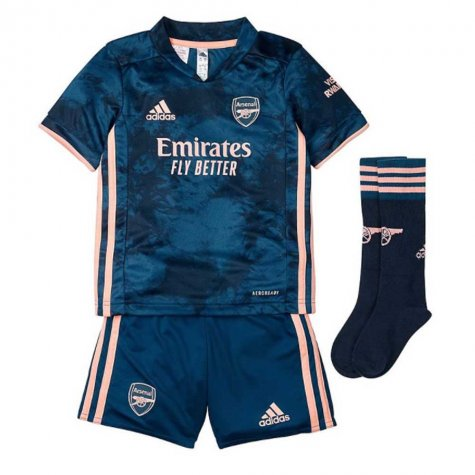 2020-2021 Arsenal Third Little Boys Mini Kit (SAKA 7)