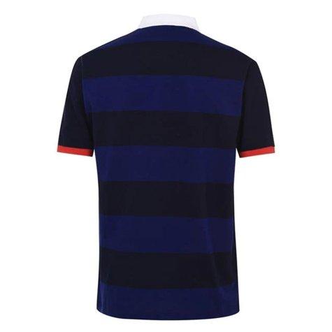 England 2021 Stripe Polo Shirt (Navy)