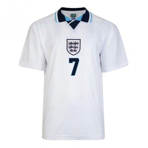 Score Draw England Euro 1996 Home Shirt (Platt 7)