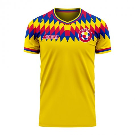 Colombia 2020-2021 Home Concept Football Kit (Libero) (JAMES 10)