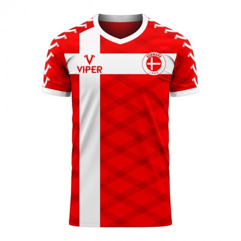 Denmark 2020-2021 Home Concept Football Kit (Viper) (M.LAUDRUP 10)
