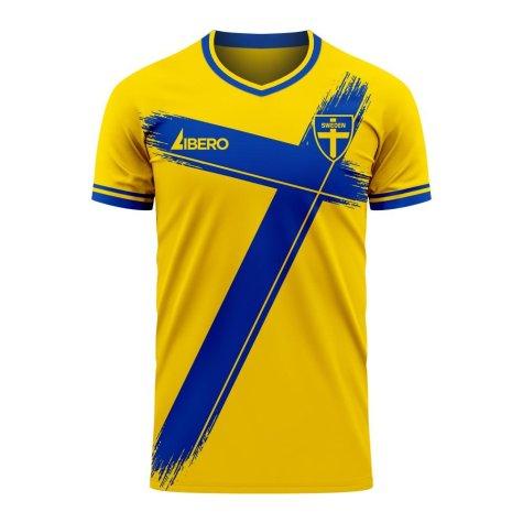 Sweden 2020-2021 Home Concept Football Kit (Libero) (LINDELHOF 3)