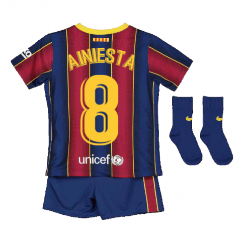 2020-2021 Barcelona Home Nike Baby Kit (A.INIESTA 8)