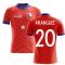 2020-2021 Chile Home Concept Football Shirt (Aranguiz 20)