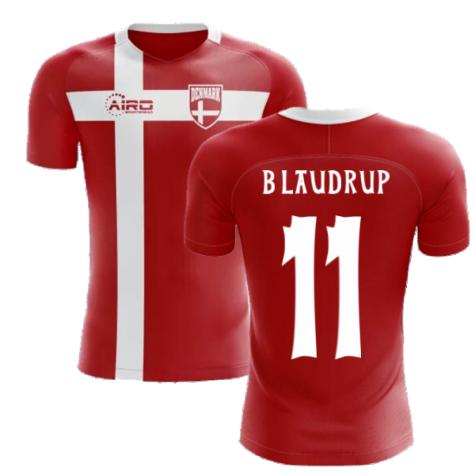 2020-2021 Denmark Flag Concept Football Shirt (B Laudrup 11)