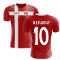 2020-2021 Denmark Flag Concept Football Shirt (M Laudrup 10) - Kids