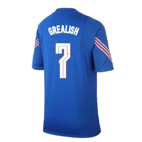 2020-2021 England Nike Training Shirt (Blue) - Kids (Grealish 7)