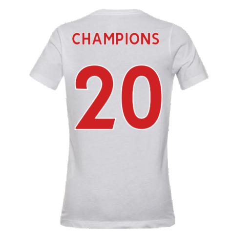 2020-2021 Liverpool Evergreen Crest Tee (White) - Kids (CHAMPIONS 20)