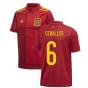 2020-2021 Spain Home Adidas Football Shirt (Kids) (CEBALLOS 6)