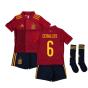 2020-2021 Spain Home Adidas Mini Kit (CEBALLOS 6)