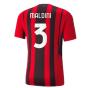 2021-2022 AC Milan Authentic Home Shirt (MALDINI 3)